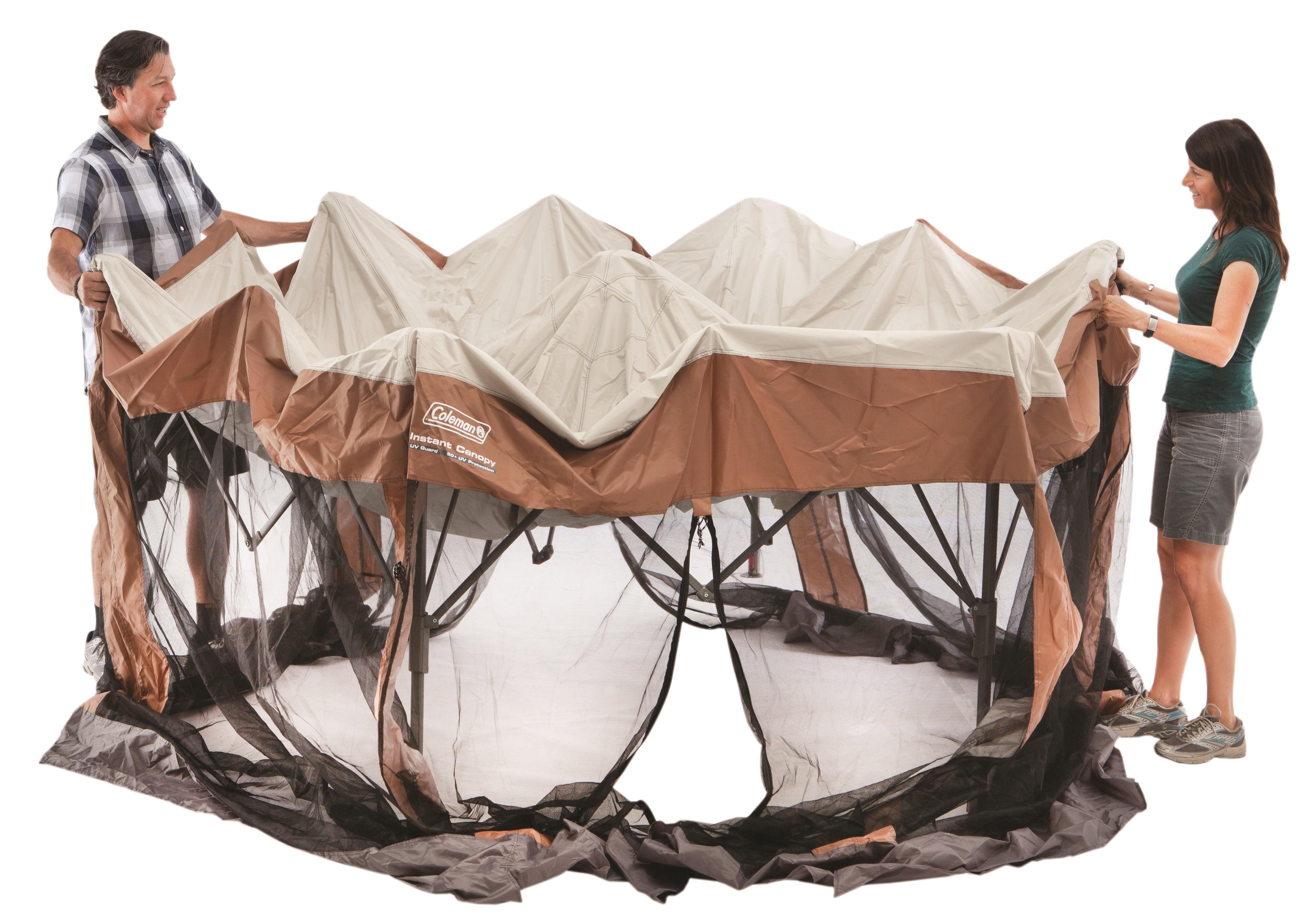 Coleman Screened Auvent Soleil Shade 12x10 tente avec instantanée Setup marron unisexe