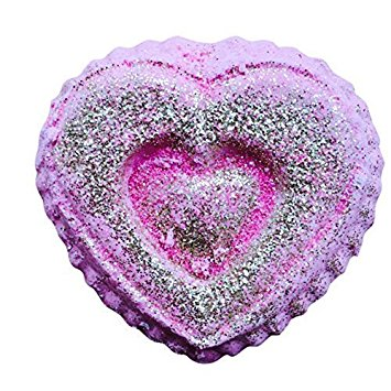 Valentines Day Gift/ BE MINE Heart Shaped Bath Bomb SET OF THREE by Soapie Shoppe