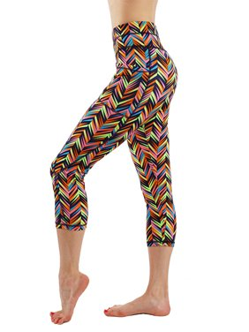 a06a96810cf765 Product Image Womens Vivid Pop Pattern Design Capri Leggings Total Workout  Gym Yoga Active Wear with Pocket