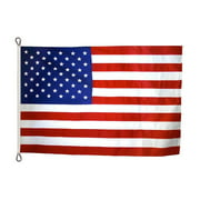 American Flag 8x12 ft. Tough-Tex the Strongest, Longest Lasting Flag , with Sewn Stripes, Embroidered Stars and Roped Heading.