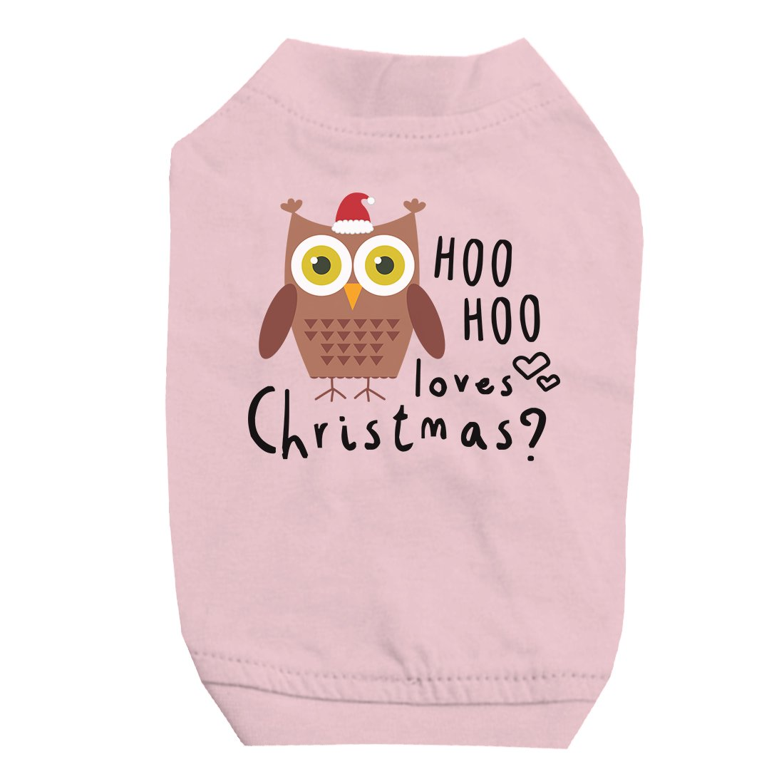 Hoo Christmas Owl Pet Shirt for Small Dogs