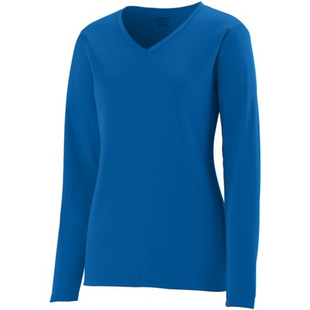 Augusta LADIES L/S WICKING T-SHIRT ROYAL XL