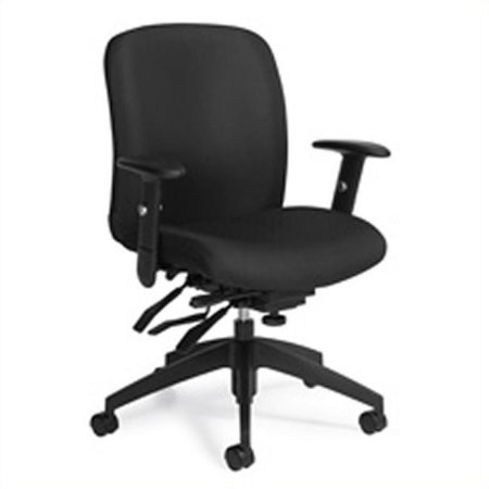 - Global Truform Medium Back Multi Tilter Office Chair with Arms in Ebony