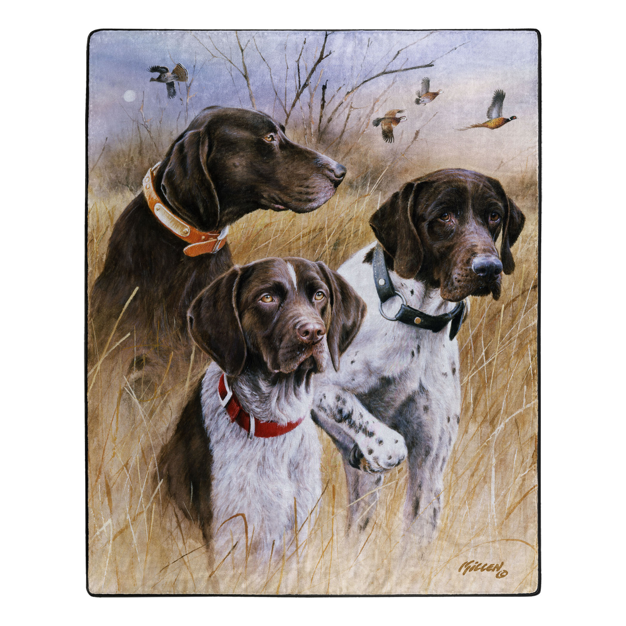 Receiving Blanket Bird Hunting Dogs Flannel Swaddle Blanket