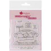 """Woodware Clear Stamps 3.5""""X3.5""""-Your New Home"""