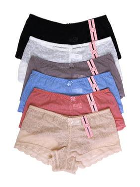 18b52b83cd57 Product Image 6 Pack of Women Hipster Panties Floral Lace Boyshorts Cheeky  Underwear Bikini