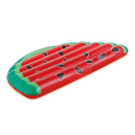 Food Pool Floats (RhinoMaster Play Refresh Watermelon Slice Inflatable Pool Lounge - Novelty Floating Food)