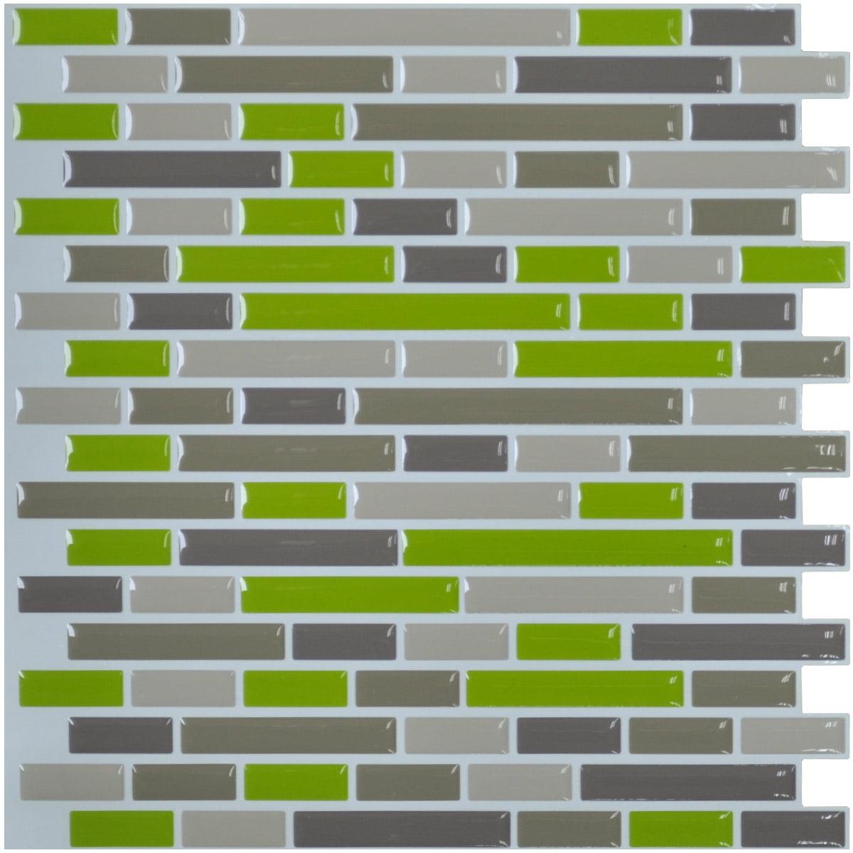art3d kitchen backsplash peel and stick tile smart green brick art3d kitchen backsplash peel and stick tile smart green brick design walmart com