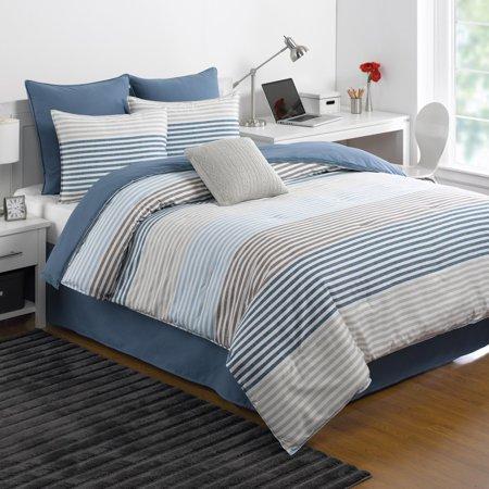 Chambray Stripe Comforter Set by IZOD