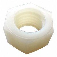 Value Brand M3-0.50 Plain Finish Nylon Machine Screw Hex Nuts, 25 pk., 04M030050HN