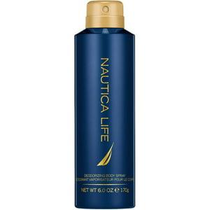 Nautica Life by Nautica, Deodorizing Body Spray for Men, 6 Ounces