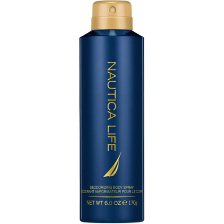 Nautica Life by Nautica, Deodorizing Body Spray for Men, 6 Ounces