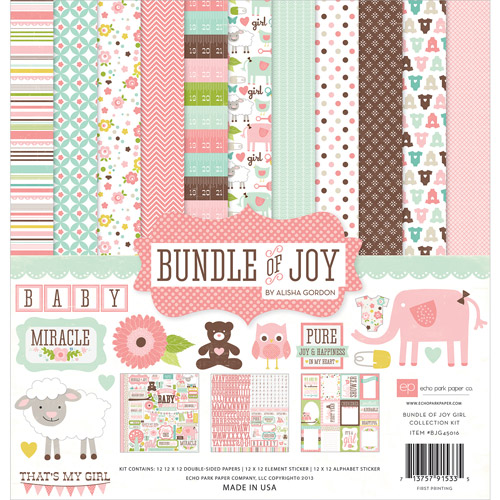 Echo Park Paper Bundle Of Joy Girl Collection Kit