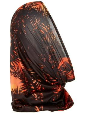 Reel Legends Mens Keep It Cool Mystery Palms Sun Neck Shield One Size Black/orange