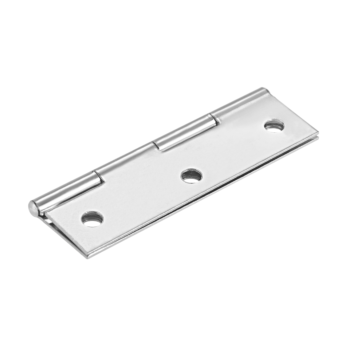 "Uxcell 2.6""  Hinge Silver Door Cabinet Hinges Fittings Brushed Chrome Plain 10pcs - image 1 de 6"