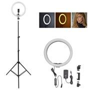 "14"" 5500K Dimmable Diva LED Ring Light Diffuser MIRROR Make Up Studio"