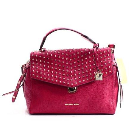 40897a532d26 Michael Kors - Michael Kors NEW Bright Red Rivet Studded Bristol Satchel Bag  Purse - Walmart.com