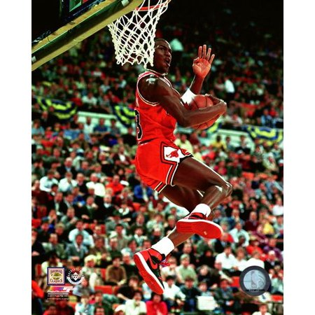 Michael Jordan 1985 NBA Slam Dunk Contest Photo Print