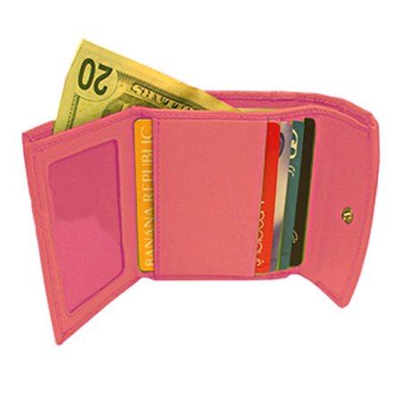 Genuine Lambskin Leather Credit Card Holder Wallet Available in Baby Blue, Green, Pink Color - Baby Green Color