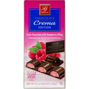 Gross & Co Chocolate Squares, Dark & Raspberry Filled, 3.5 Ounces