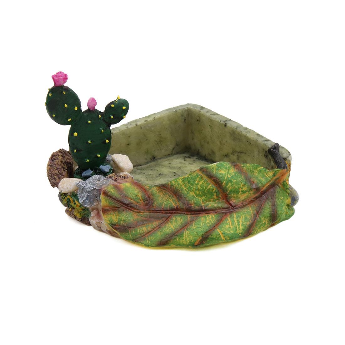 2pcs Resin Corner Bowl Reptiles Feeding Water Food Dish Terrarium Decor Rock - image 1 de 5