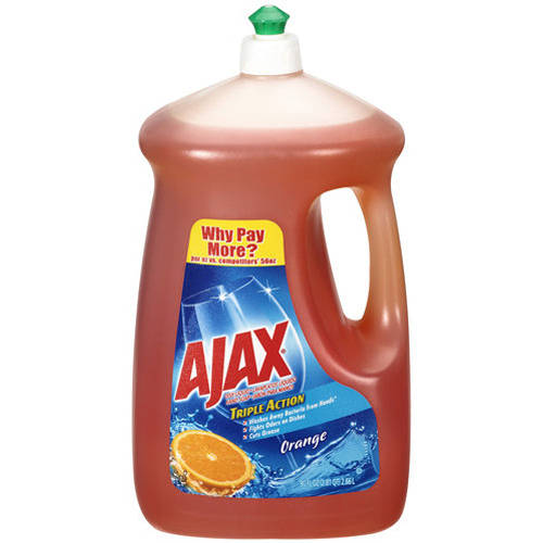 Ajax Triple Action Orange Dish & Hand Soap, 90 oz