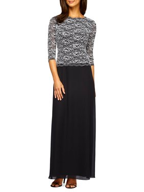 e11403f50a4 Product Image Lace   Sequin-Bodice Column Dress. Alex Evenings