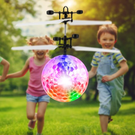 Flying Ball Toy for Kids, Hand Controlled Rechargeable Mini Drones Light-Up Flying Toy Helicopter Novelty Holiday Toys Birthday Xmas Gifts for Boys Girls Mini Rechargeable Rc Helicopter Radio