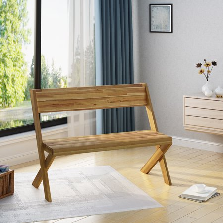 Noble House Indoor Farmhouse Acacia Wood Bench, Teak
