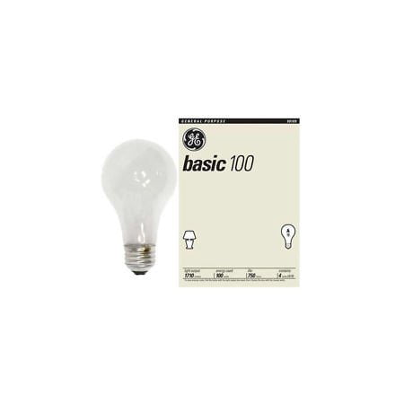 GE 100 Watt Basic Light Bulb 4 Pack GE #41034 1710-lumen (100 Watt Reptile Night Light)