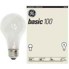 GE 100 Watt Basic Light Bulb 4 Pack GE #41034 1710-lumen A19