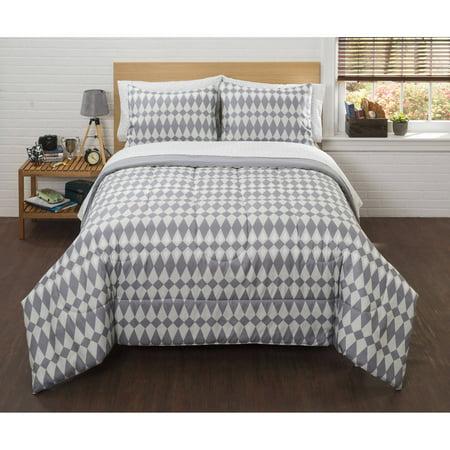 American Original Grey Ethan Ikat Bed In A Bag Bedding