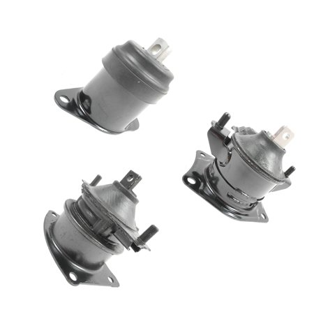 MaxBene Fits: 03-07 Honda Accord 2.4L Front & Rear Engine Motor Mount Kit 3PCS w/ Auto Trans. A4526HY A4517 A4516. 03 04 05 06 (Honda Accord Motor)