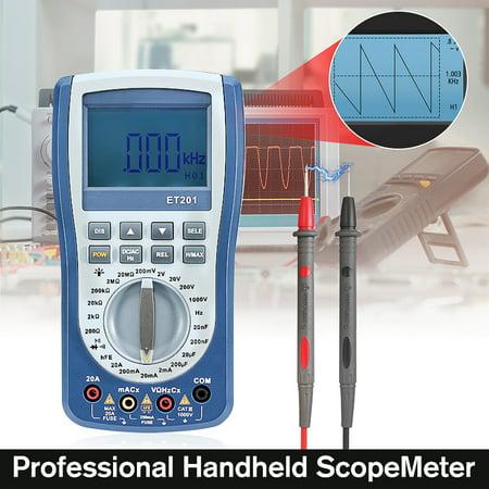 Professional Handheld LED Scopemeter Oscilloscope Multimeter Voltage /Current/Resistance Automatic Waveform Capture Test Tools Outil