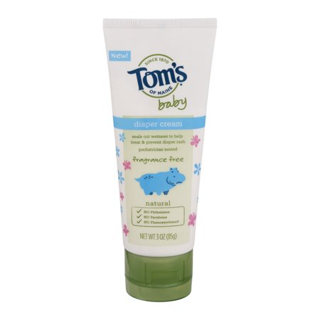 Tom's of Maine Baby Diaper Cream Fragrance Free, 3.0 OZ