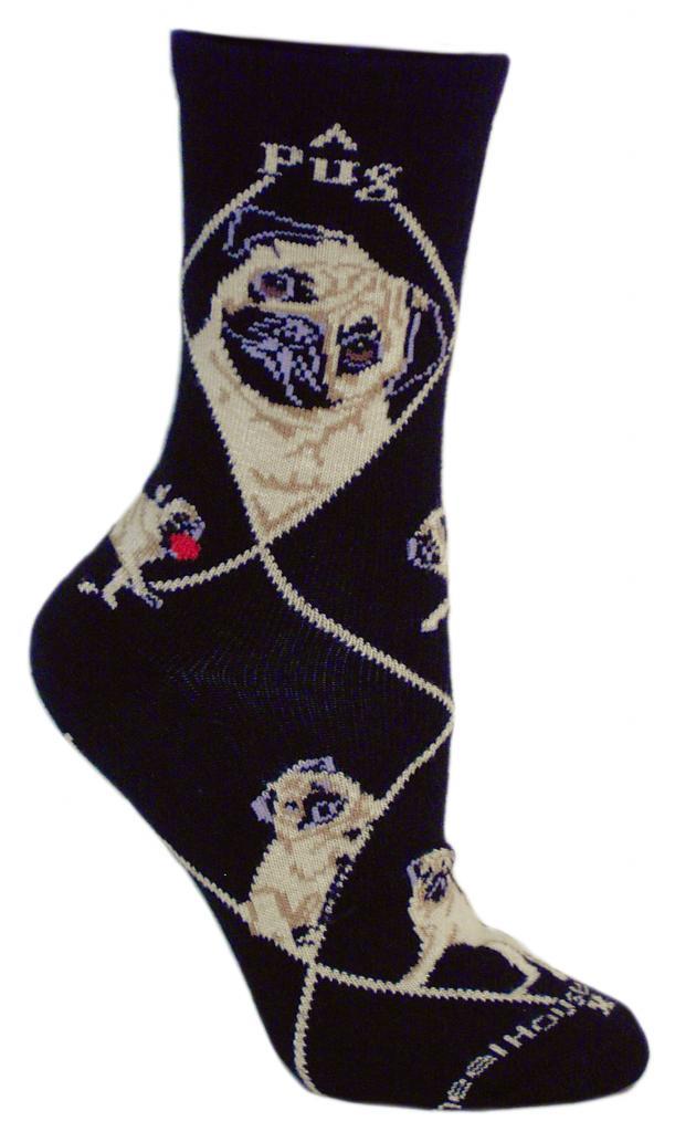 Pug Gift Unique Pet Socks Crazy Socks Dog Socks Galaxy Pug Funny Socks Pugs in Space Sock Funky Socks Hand Printed in USA