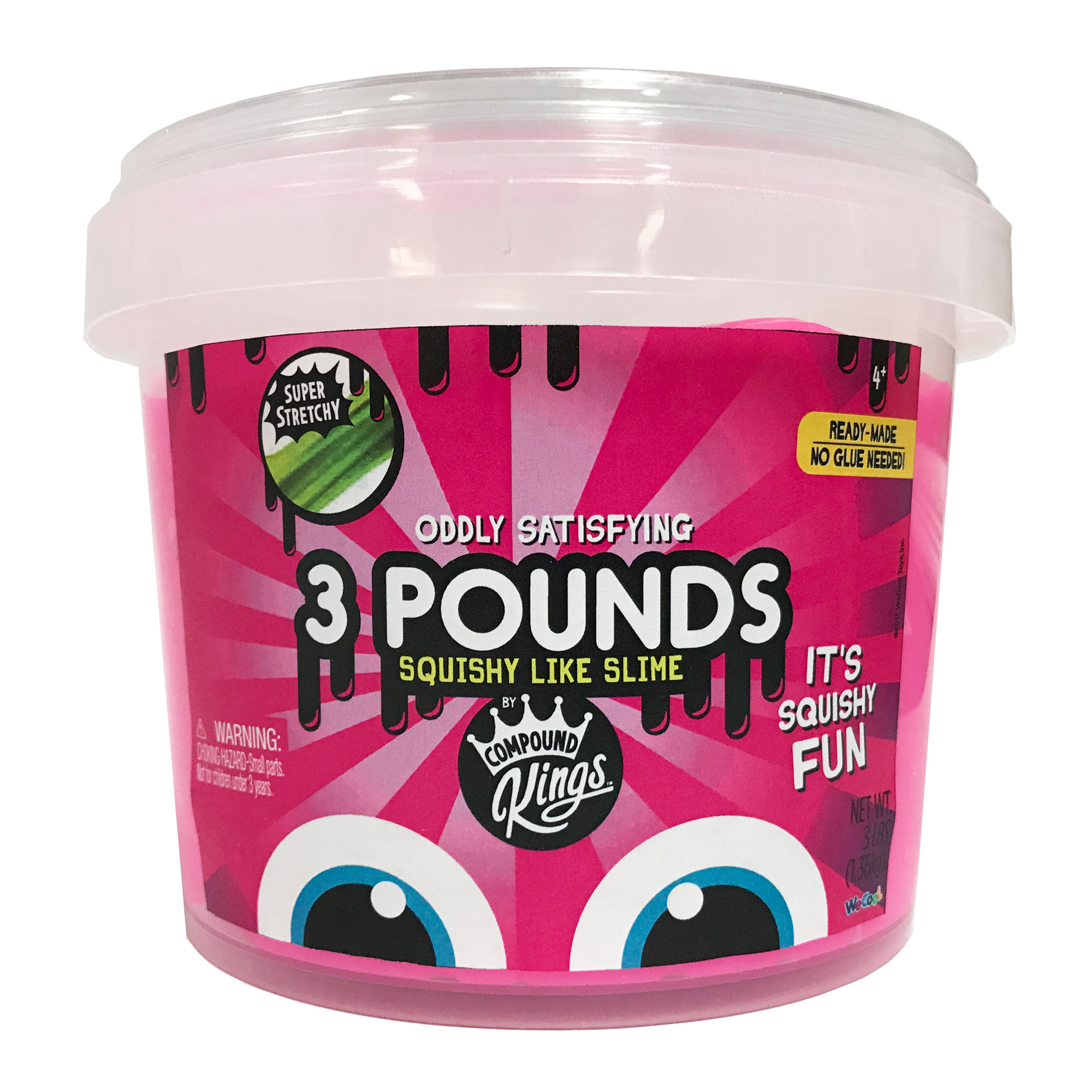 Compound Kings 3lb Slime Bucket: Pink