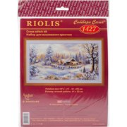 """Winter Evening Counted Cross Stitch Kit, 16"""" x 9"""", 14 Count"""