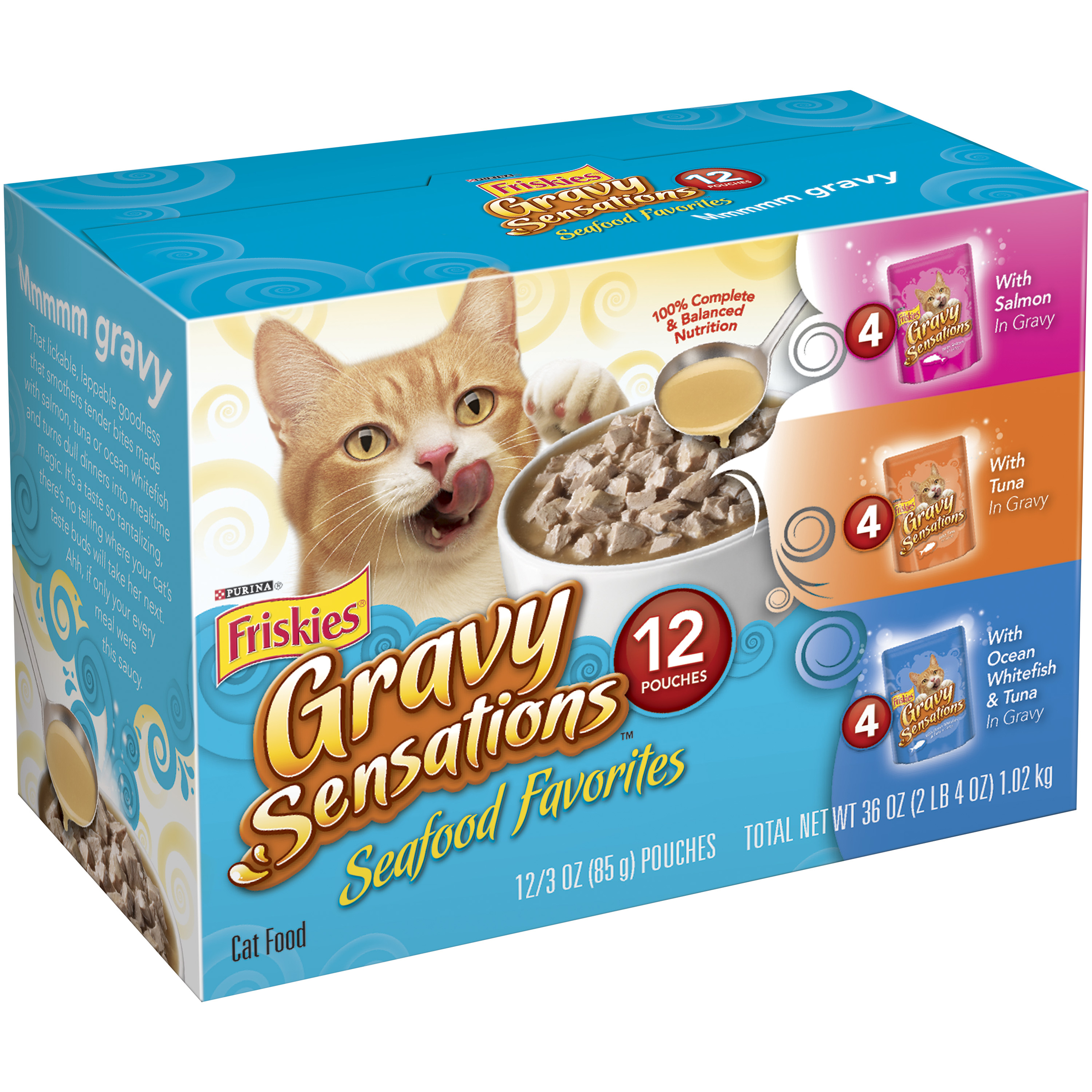 Purina Friskies Gravy Sensations Seafood Favorites Cat Food Variety Pack 12-3 oz. Pouches