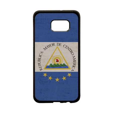 02c25cf099 El Salvador Flag Grunge Design Black TPU Rubber Protective Phone Case That  Is Compatible with the Samsung Galaxy s7 Edge - Walmart.com