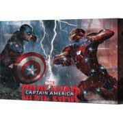 Pyramid America Captain America: Civil War Captain America Vs Iron Man Canvas Wall D cor