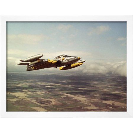 Military Airplane in Flight Framed Photographic Print Wall Art ...