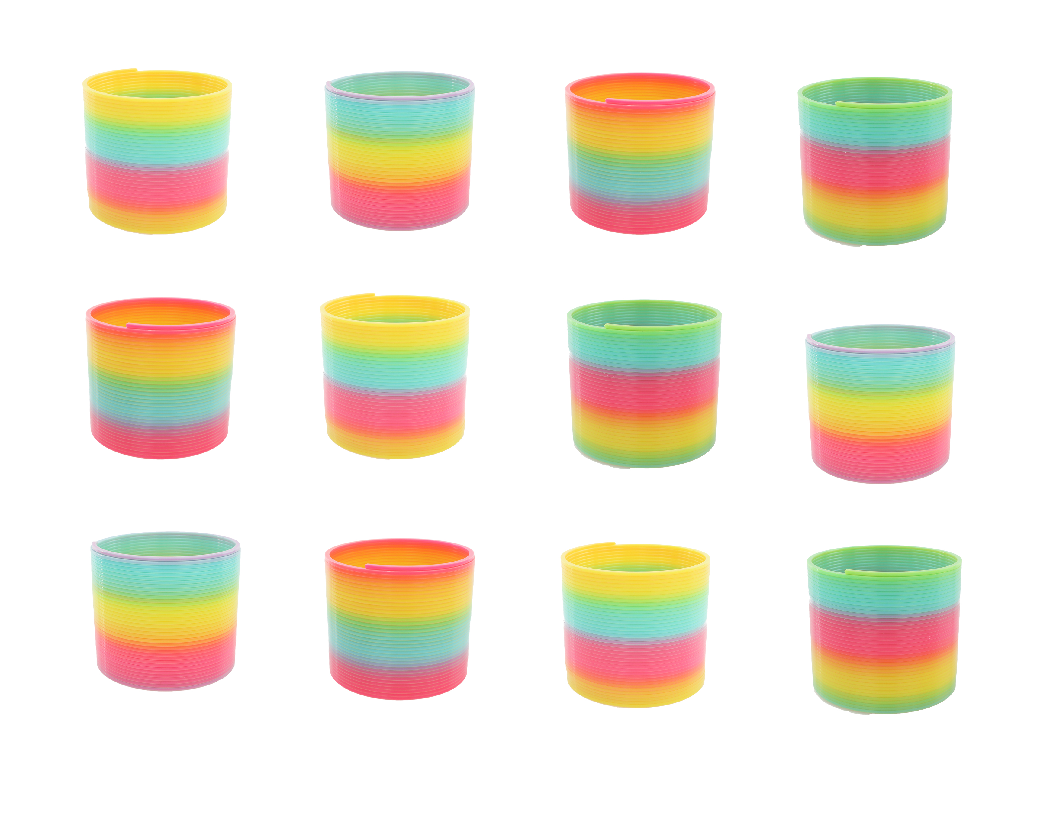 Classic 12 Pack Slinky Spring Toy With Assorted Colors Plastic For Birthday Party Favors Goodie Bag Fillers Gifts
