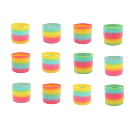 12 Pack Spring - Classic 12 Pack Slinky Spring Toy with Assorted Colors, Plastic Spring Toy for Birthday Party Favors, Goodie Bag Fillers, Gifts