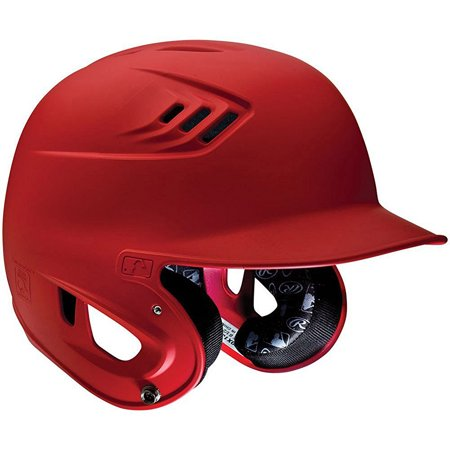 Rawlings S70 CoolFlo Junior Batting Helmet, Red