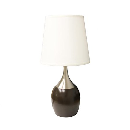 """ORE International 24"""" Touch Table Lamp, Espresso and Silver"""