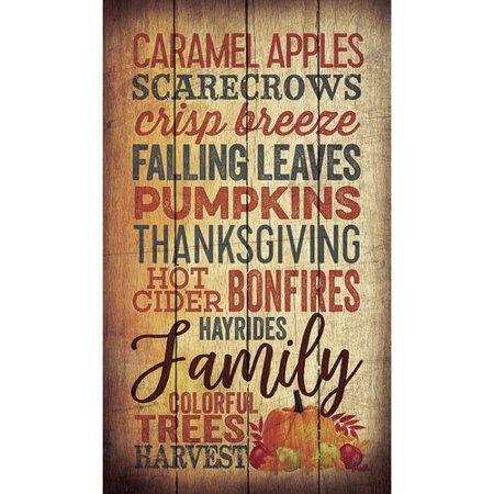 Winston Porter 'Caramel Apples Scarecrows Crisp Breeze' Textual Art on Wood