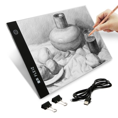 LED Tracing Light Box Board Art Tattoo A4 Drawing Pad Thin Copy Table Stencil Display Acrylic Stepless Dimmable Lighting Brightness Drawing Box USB Power Cable Pencil - Tattoo Drawings In Pencil