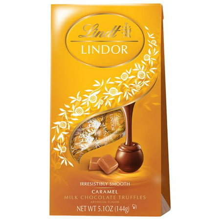 Lindt Lindor Caramel Milk Chocolate Truffles, 5.1 (Chocolate Champagne Truffles)