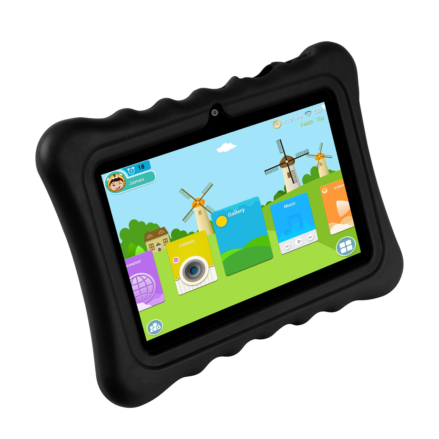 KOCASO [7 INCH] Quad Core [Android 4.4 KitKat] Kids HD Tablet PC- 8GB Storage W/ 32GB Expandable Memory, 1024x600, Dual Camera, WiFi/Wireless, Micro USB/SD Card Slot - Black